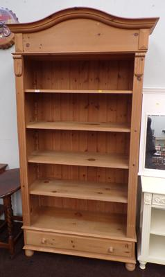 Large pine bookcase with adjustable shelves