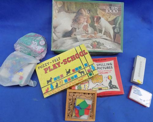 Job lot of mixed vintage board games/toys
