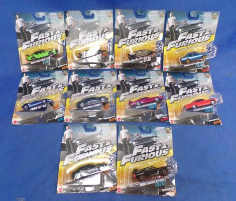 Fast & Furious diecast 10 cars