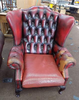 Chesterfield high-back chair