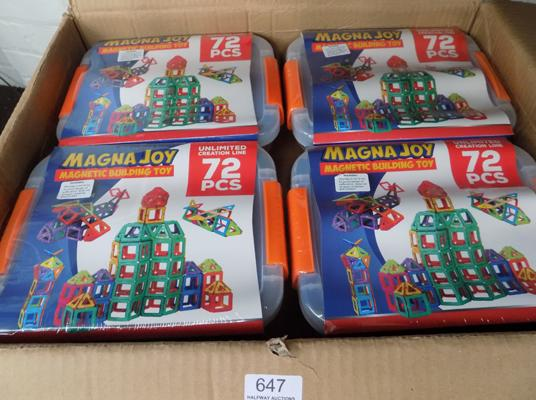 12 new 72 piece magnetic kits (RRP £24.99 each)