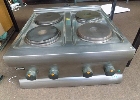 Lincat HT6 four plate catering hob, hardwire tested (RRP  £329 new)