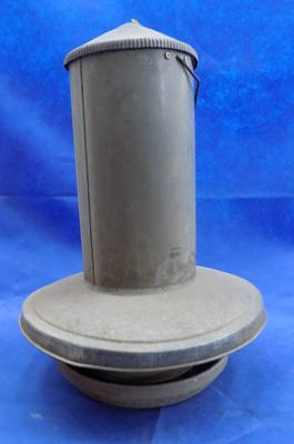 Large galvanized poultry feeders