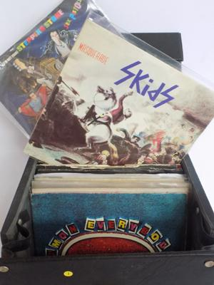 A collection of approximately forty vinyl records; featuring Punk, Rock and New Wave singles - including The Sex Pistols, The Ramones and The Skids