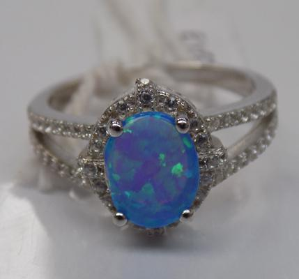 Silver opal ring - as new