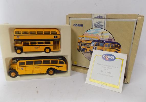Corgi boxed A.E.C. bus set