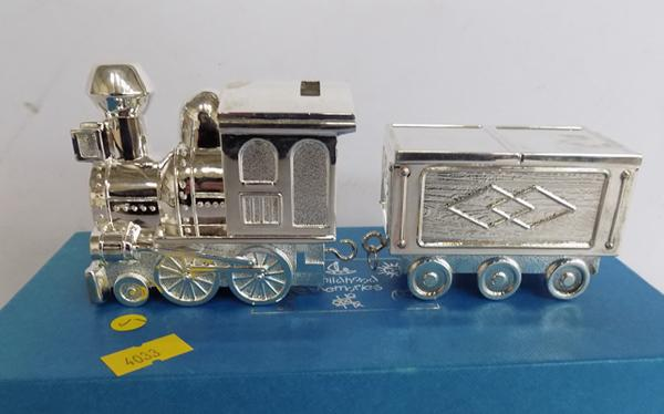 Silver plated childhood memories train - boxed