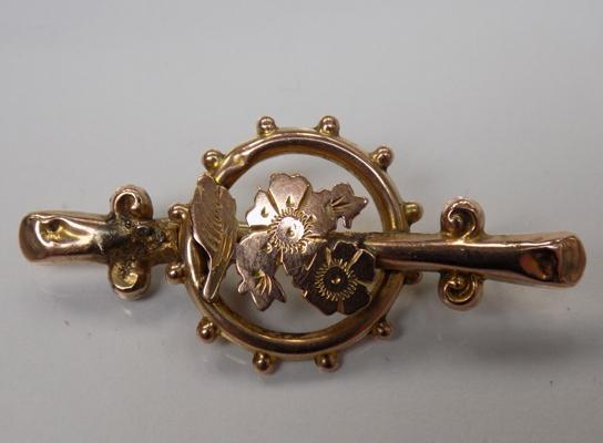 Victorian 9ct gold brooch (1.9 grams)