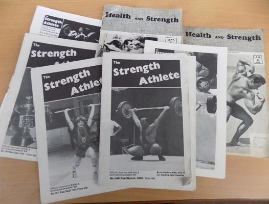 Selection of vintage Strength Athlete magazines
