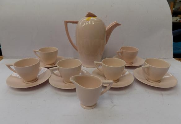 Blush Rose Wedgwood coffee set, six piece coffee set