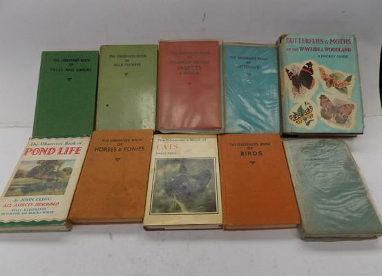 9 collectable Observers books and pocket guides
