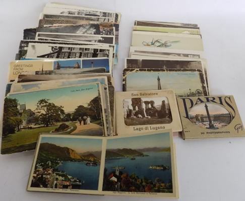 Selection of approx 100 postcards, some vintage