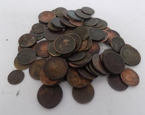 Tub of Georgian copper coins