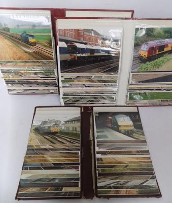Three albums of vintage train photographs