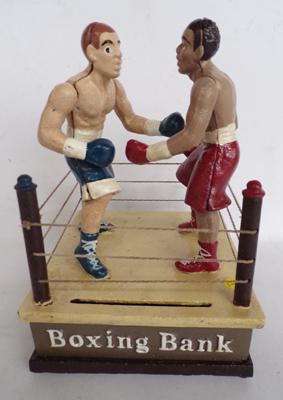 Cast Iron Boxer Money box
