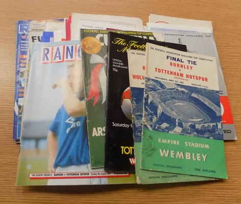 Over 40 football programmes, mainly 1960's including Cup finals