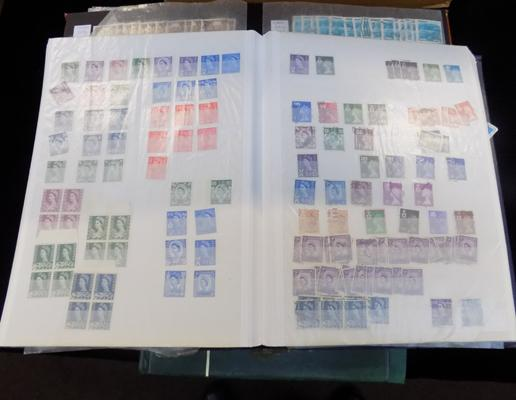 4 albums of GB and world stamps
