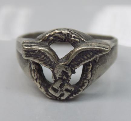 German Luftwaffe ring - marked 800