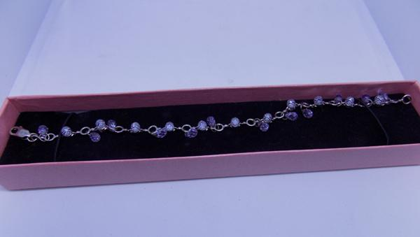 925 silver and amethyst bracelet