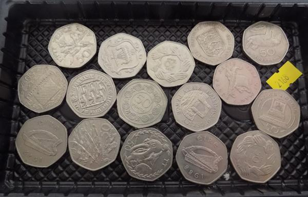 16 x Collectable 50p coins