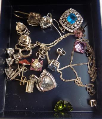 Various silver & gemstones