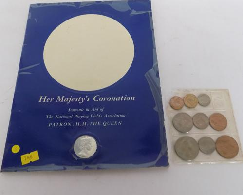 1953 Coronation souvenir & coin set