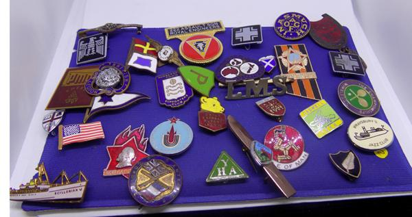 Collection of mainly vintage enamel badges
