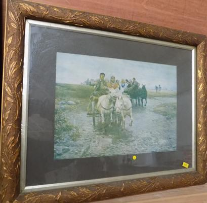 Framed American print (The Wedding Party)