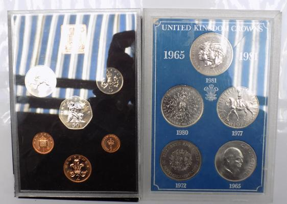 1971 coin set and crown set cased