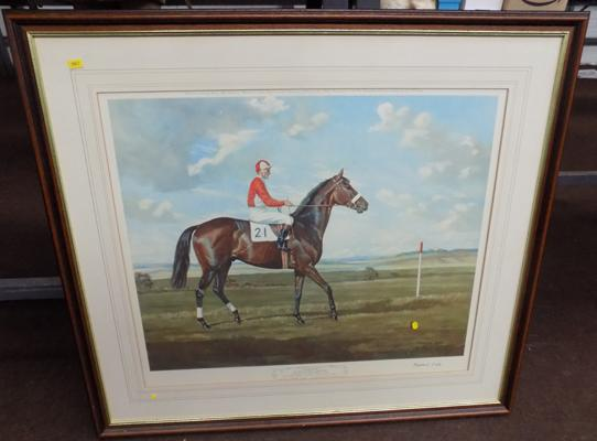 Print of English Derby winner, Parthia Madeline Selfe