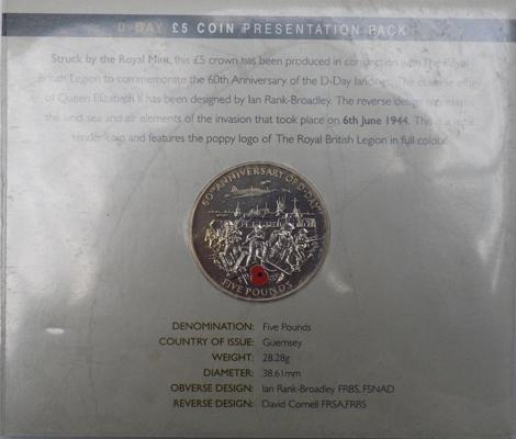 D-day £5 coin presentation pack