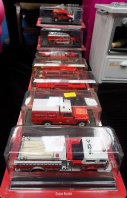 10 diecast fire engines in original packages