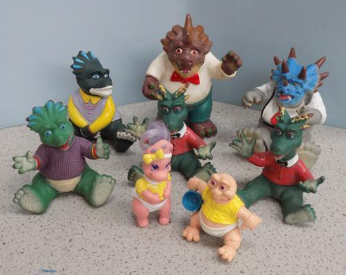 8 soft Disney 1991/3 TV dinosaurs figures