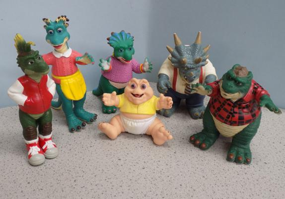 6 Disney 1991/3 TV dinosaurs Sinclairs/Richfield figures