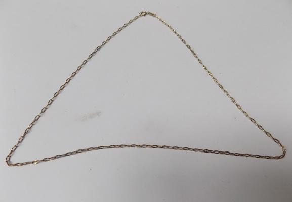 9ct gold fine link belcher chain (18 inches)