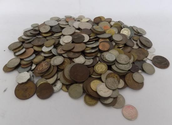 Large selection of coins