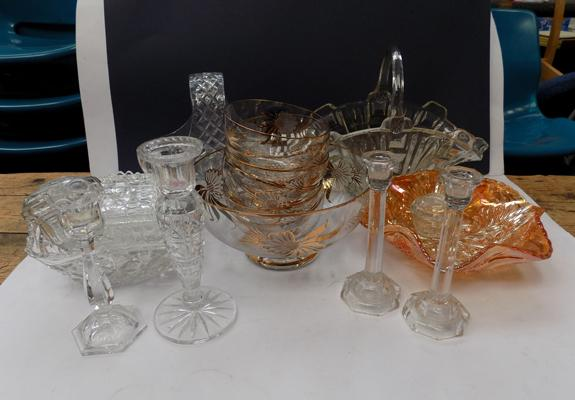 Box of assorted cut glassware