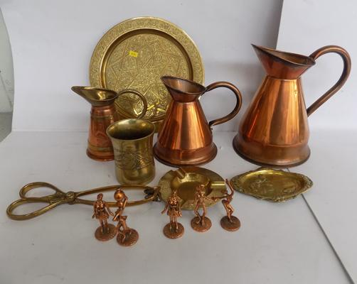 Collection of brass & copper items