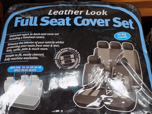 Leather look car seat covers