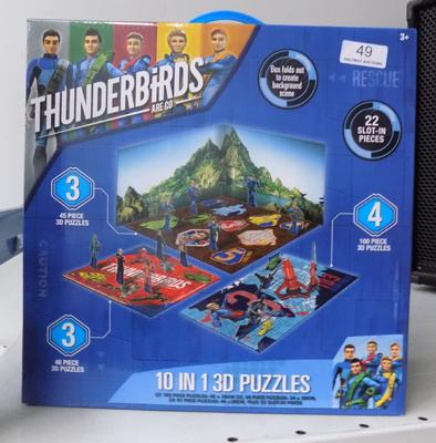 Thunderbirds Are Go, 10inch 3D puzzle - new