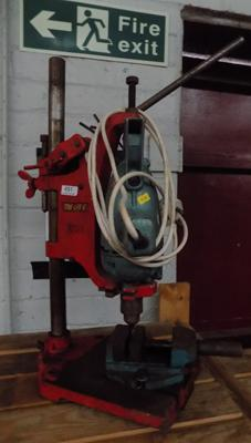 Pillar drill on stand in working order