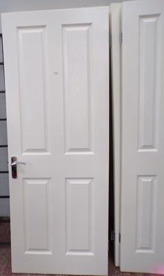 Three standard size household doors, new locks & hinges, good condition