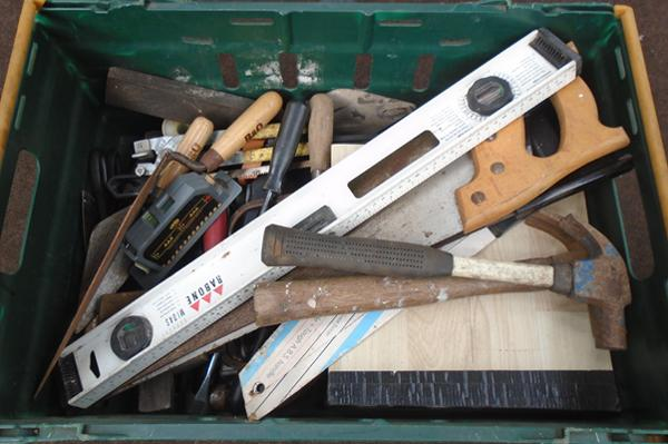 Large crate of tools