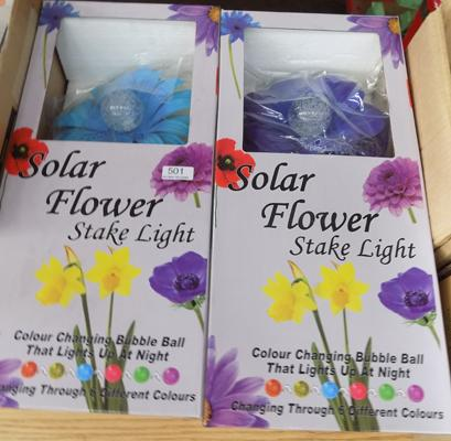 Two new large flower solar lights