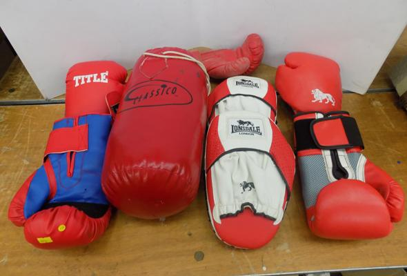 Selection of boxing equipment