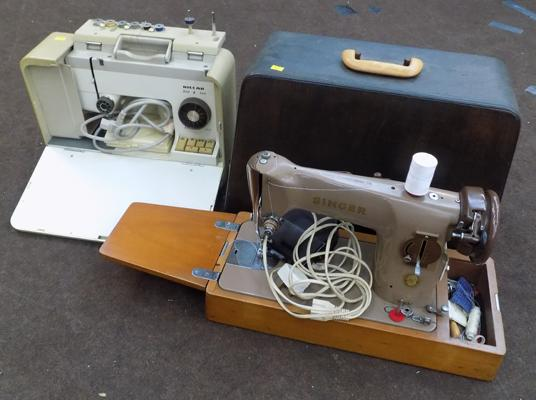 Vintage Riccar & Singer sewing machines