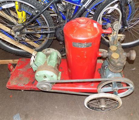 1947 RAF compressor on original trolley - W/O