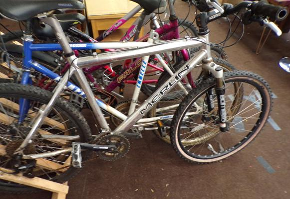 Merlin silver mountain bike