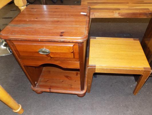 Bedside drawer and small table