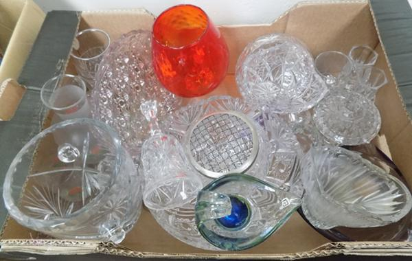 Large selection of cut glass and crystal, incl. Royal Doulton crystal